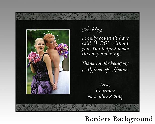 Amazoncom Matron Of Honor Maid Of Honor Personalized Wedding Frame