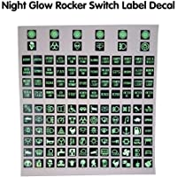 BAAQII Night Glow wipschakelaar label sticker schakelbord sticker auto boot marine