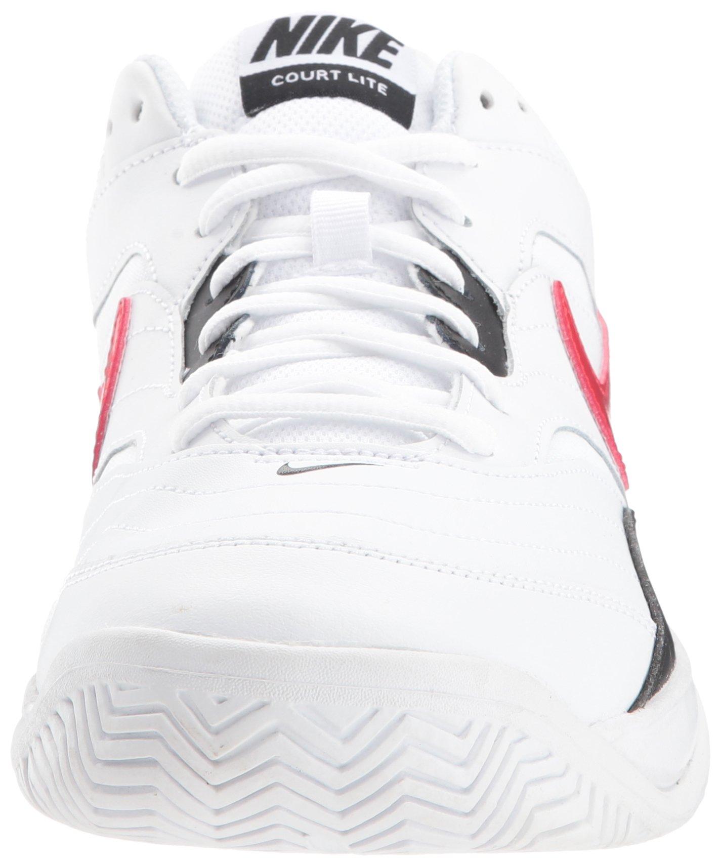 Nike Men's Court Lite Tennis Shoe, White/University red/Black, 7.5 D US by Nike (Image #4)