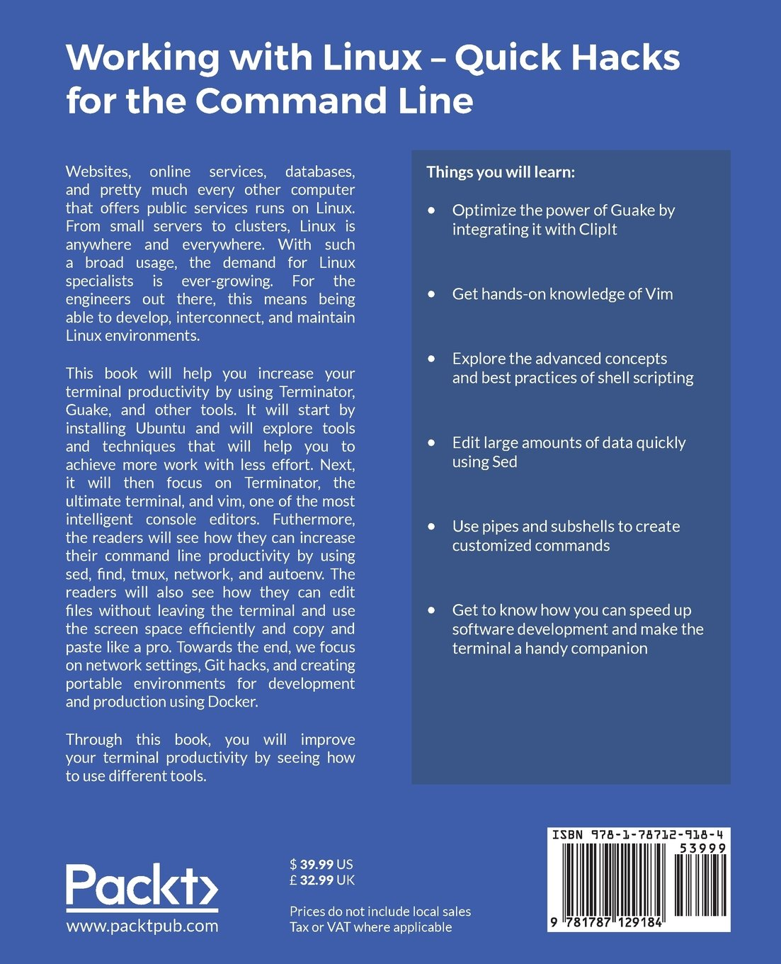 Working with Linux - Quick Hacks for the Command Line: Command line