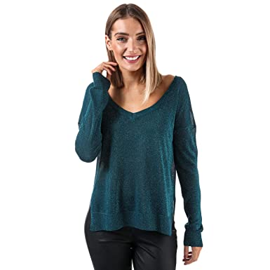 ad036fa25c Brave Soul Womens Womens Lurex Jumper in Teal - 12  Brave Soul   Amazon.co.uk  Clothing