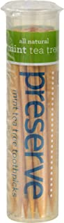 product image for Preserve Flavored Toothpicks Mint Tea Tree - 35 Pieces - Case of 24 by Preserve