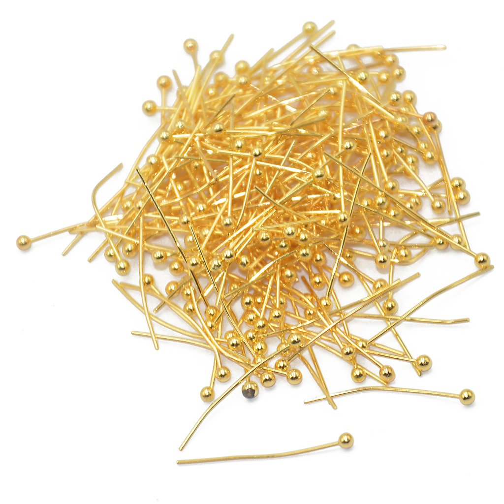 Flameer 200 Pcs Copper Ball Headpins Craft Findings Jewellery Making Earrings 20mm