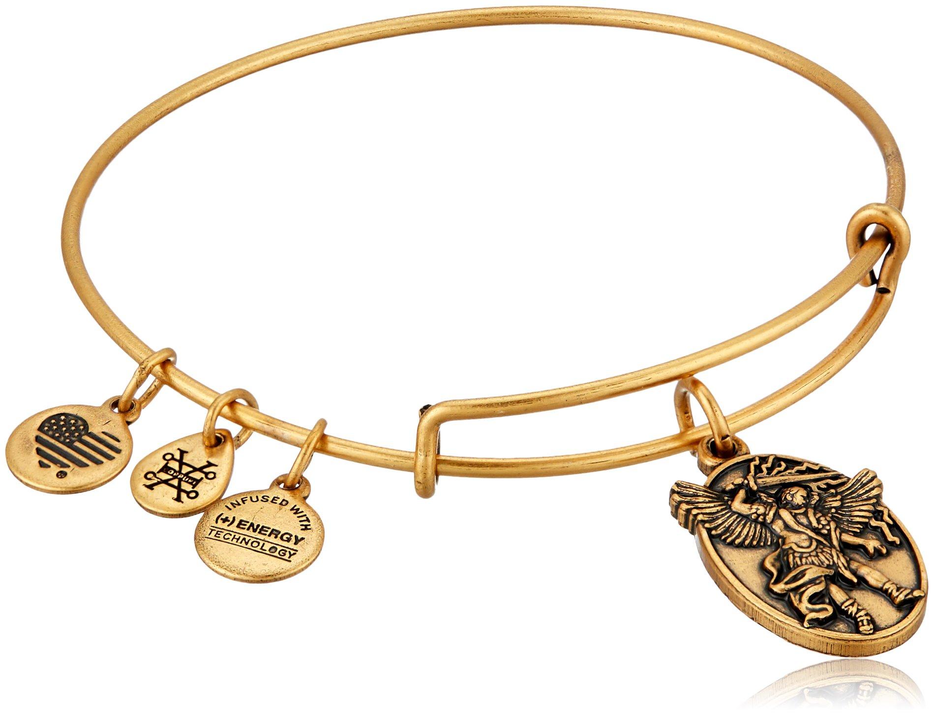 Alex and Ani Archangel Michael EWB Rafaelian Gold Bangle Bracelet