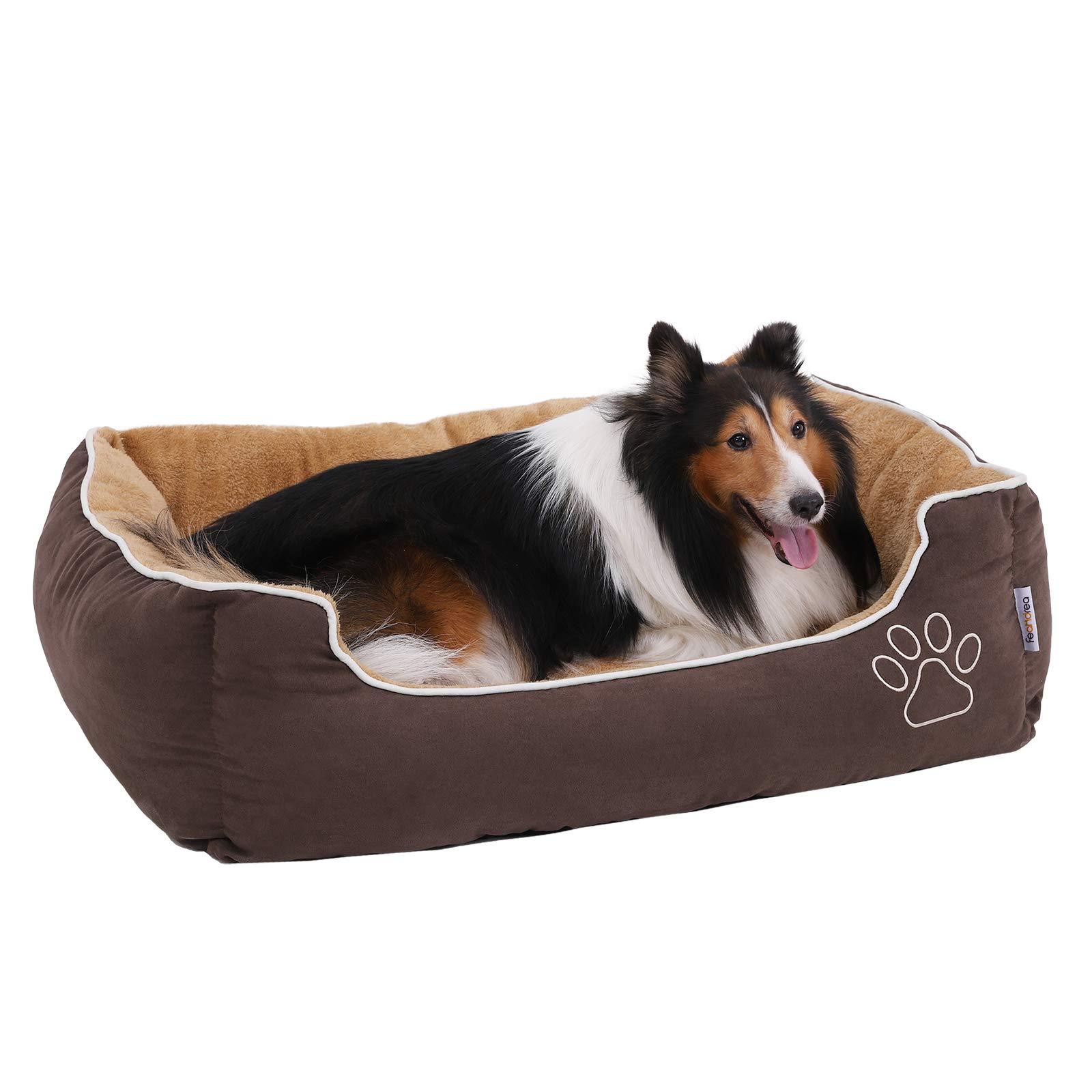 FEANDREA Cama para Perros, Sofá para Perros, Cesta para Perro con cojín extraíble,