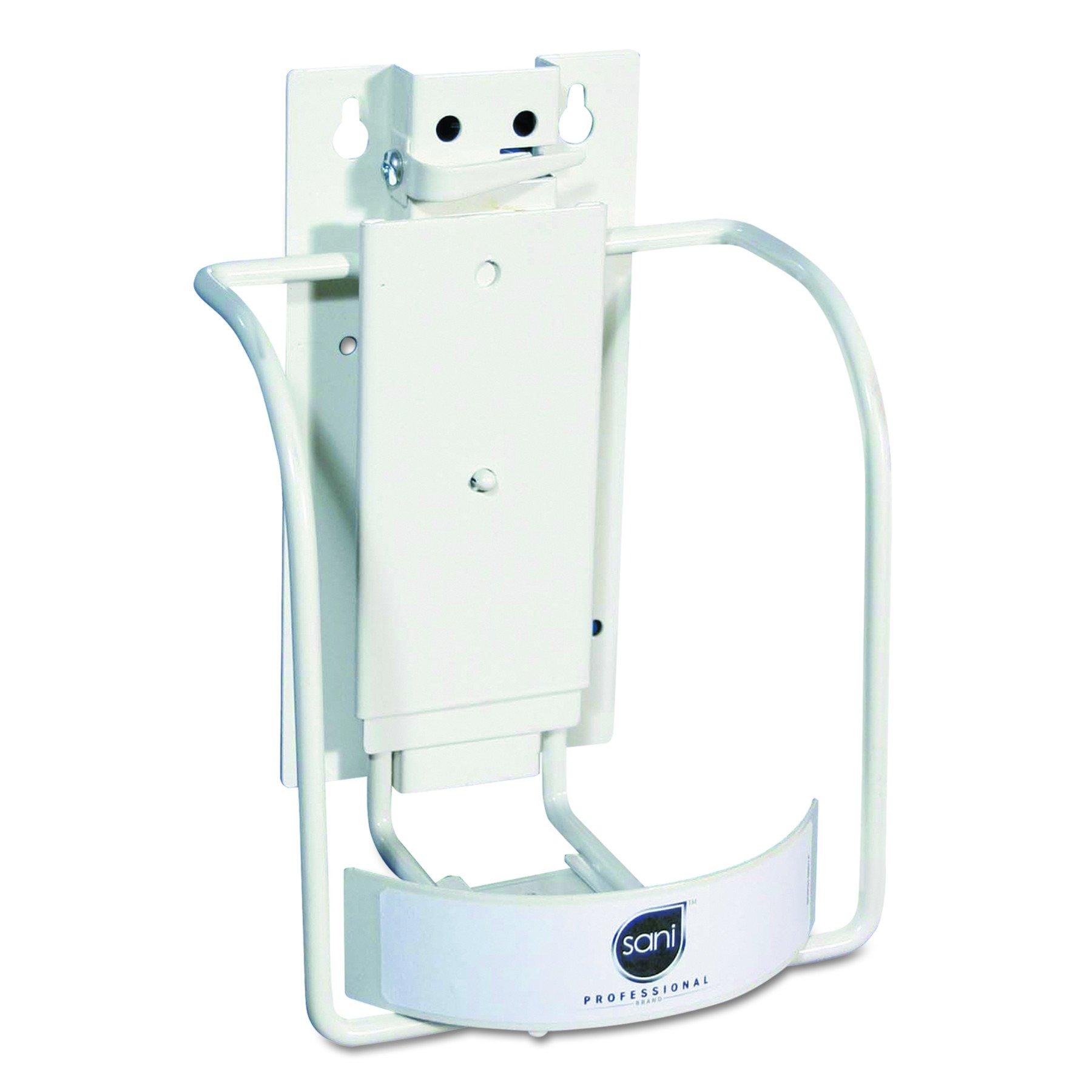 Sani Professional P010801 Universal 3-in-1 Sani-Bracket, Plastic/Vinyl-Coated Wire, 8''H x 6-1/2''W x 7''L