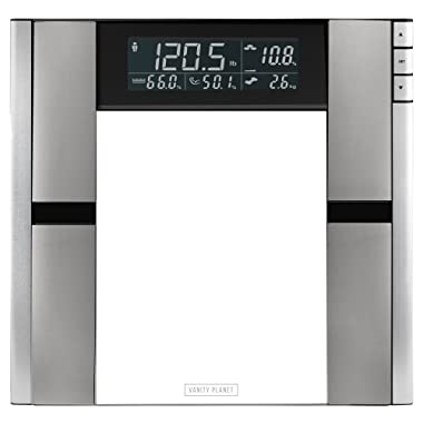 Vanity Planet Work It Digital Scale and Body Analyzer - Tracks Body Fat, Weight, Muscle/Bone Mass, Water Weight - 330 Pound Capacity