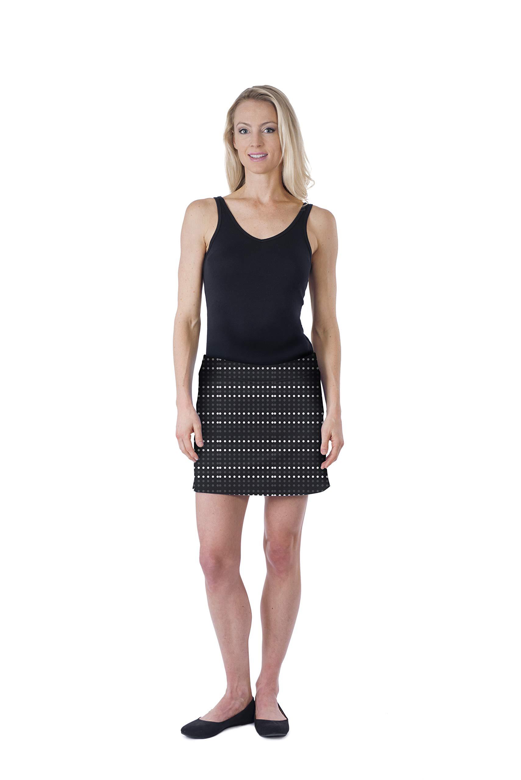 Colorado Clothing Women's Everyday Skort (Polka Dot Black, X-Large) by Colorado Clothing