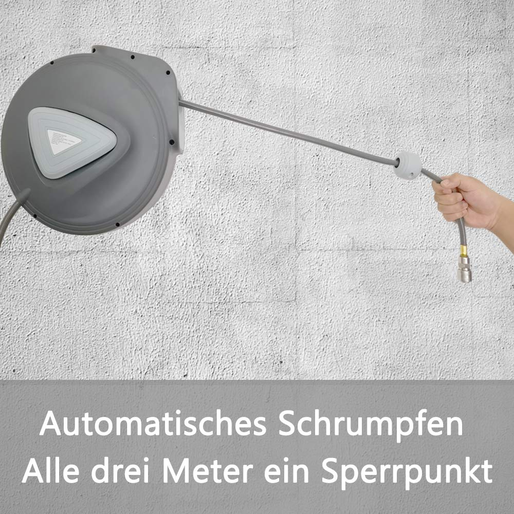 HENGMEI 10m Manguera de aire comprimido Carrete de manguera de aire Autom/ático de Aire Comprimido