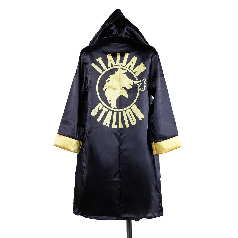 Wraith of East キッズボクシングコスチューム ロッキーバルボア アポロアメリカ国旗 ローブボーイ コスプレ キックボクシング パーカー スポーツトップ L B07QQBWLGN Italian Stallion Robe+Belt Large