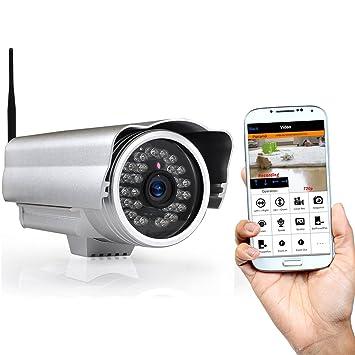 Pyle PIPCAM15 - Cámara de Seguridad IP inalámbrica para Exteriores con micrófono y grabación de Audio/vídeo: Amazon.es: Electrónica