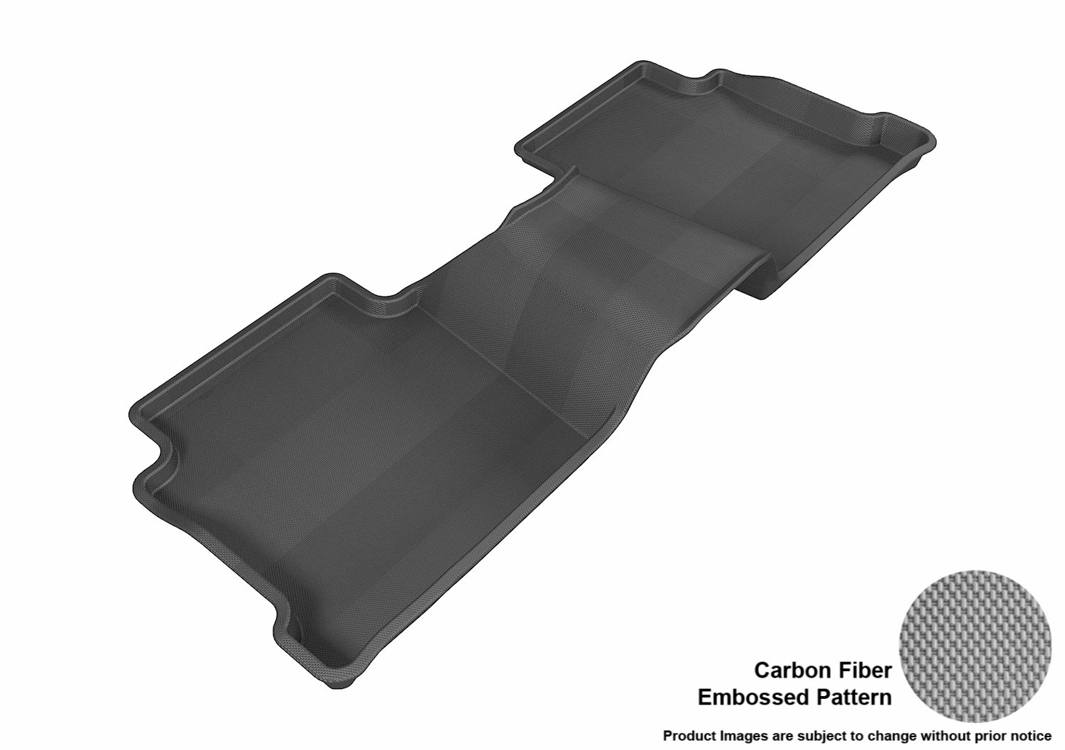 Gray L1MZ04021501 3D MAXpider Second Row Custom Fit All-Weather Floor Mat for Select Mazda6 Models Kagu Rubber