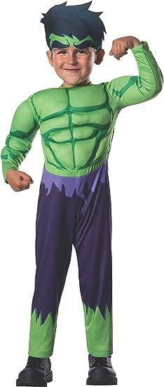 Avengers - Disfraz de Hulk Deluxe para niños, infantil talla 1-2 ...