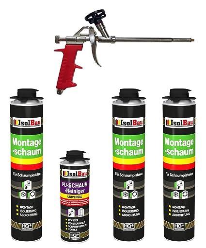 Set pistola de espuma 3 latas 750 ml Espuma de montaje 1 K Diseño Espuma de