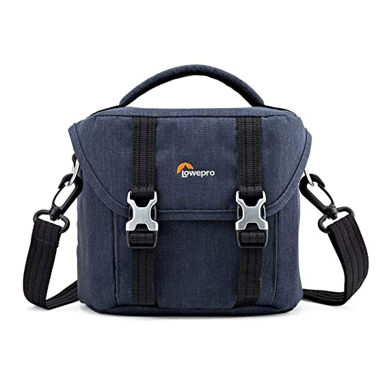 Lowepro Scout SH 120 Shoulder Bag for Mirrorless Camera with Lens, Extra Lens and Smartphone, Slate Blue Camera Cases