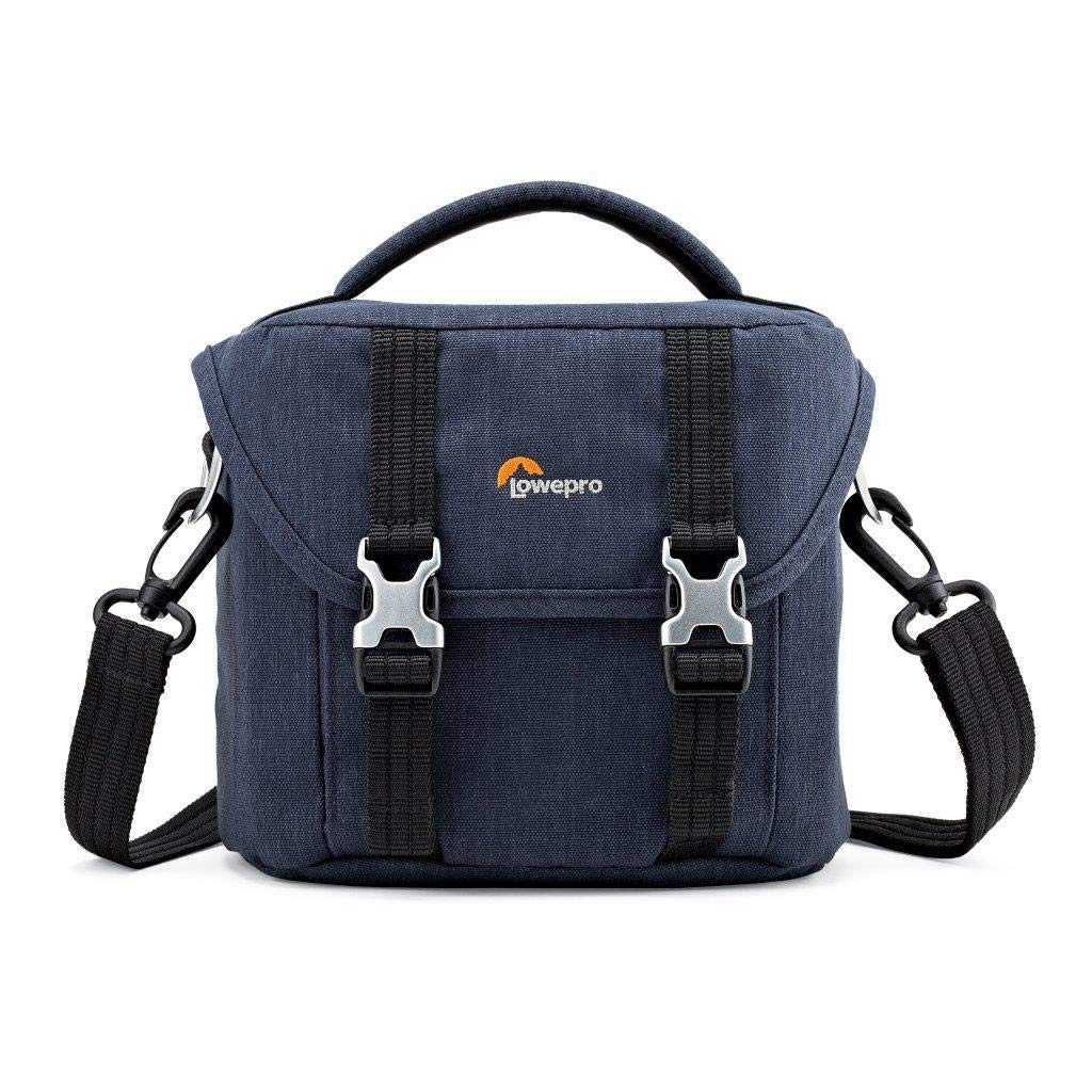 Lowepro Scout SH 120 Shoulder Bag for Mirrorless Camera with Lens, Extra Lens and Smartphone, Slate Blue