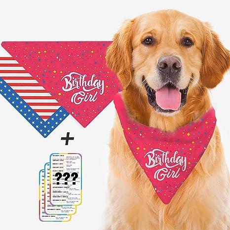 PHpet Bandana de cumpleaños para Perro (para niño y niña ...