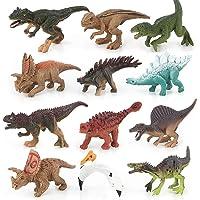 YRE Juguete de los niños Dinosaurio Animal simulación Modelo 12PCS Conjunto, Rompecabezas de Dinosaurio Modelo Juguetes para niños y Adultos
