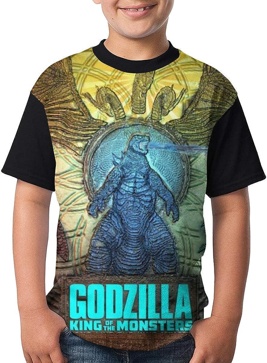 Selfhood-Vogue Youth God-Zilla Tee T-Shirt for Teenager Boys Girls Black