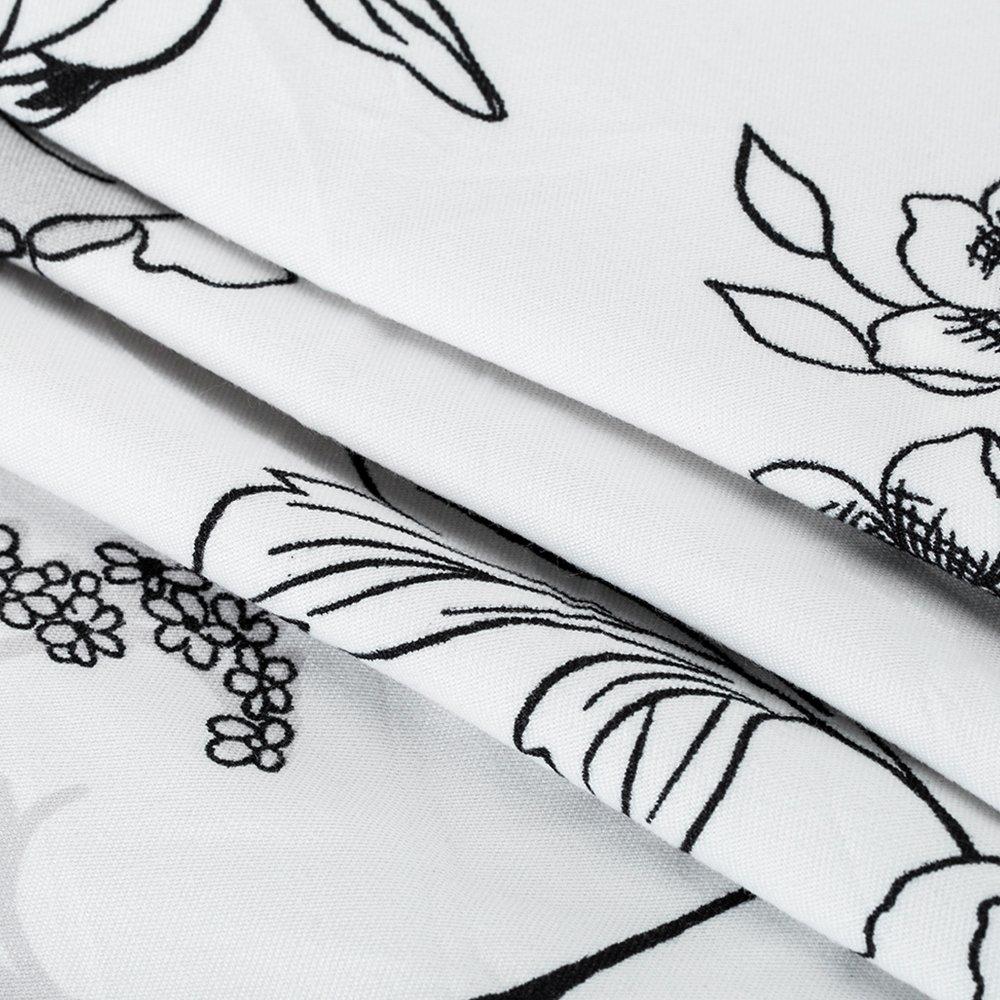 Parure de Lit 1Personnes 3 pi/èces Housse de couette 150x210 Drap-housse 105x210 Taies Doreillers 50x75cm Contemporary Fleur Floral pour Chambre Maison Tous les Saisons