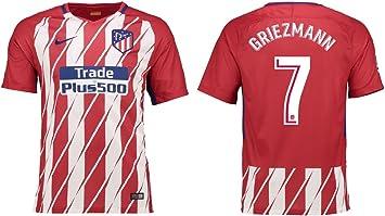 Camiseta para niños Atlético de Madrid 2017 – 2018, equipación de local, Griezmann 7: Amazon.es: Deportes y aire libre