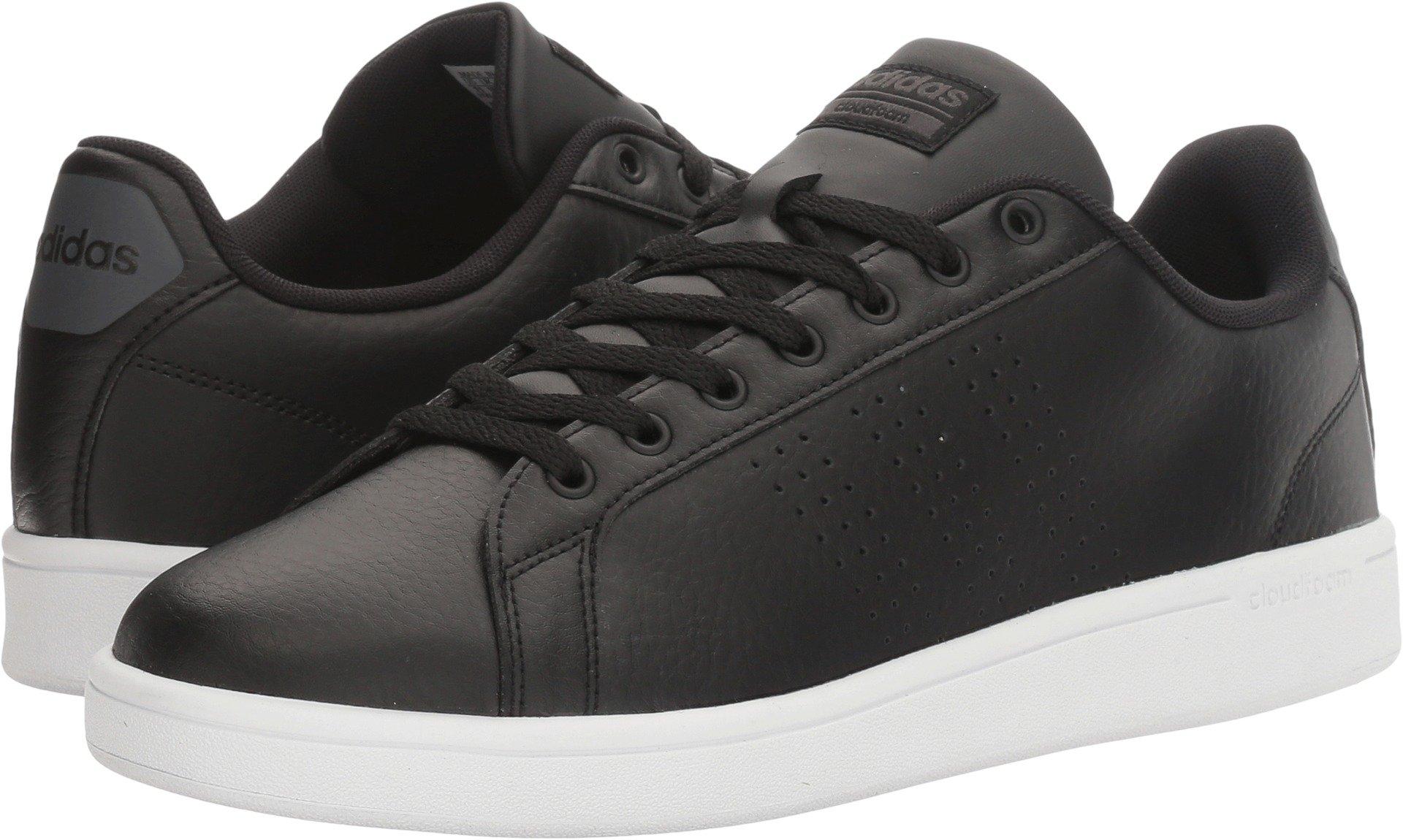 adidas Men's Cloudfoam Advantage Clean Sneakers, Black/Black/White, (8.5 M US)