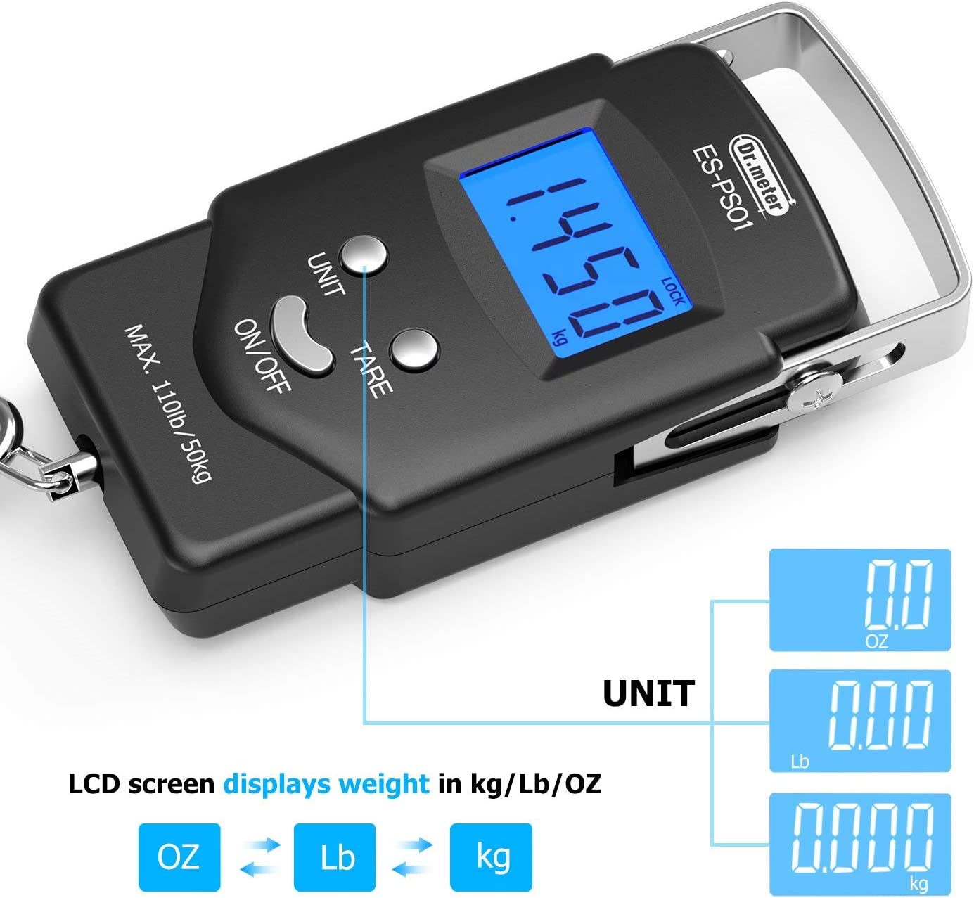 Dr.meter PS01 Fishing Scale+PS02 Luggage Scale