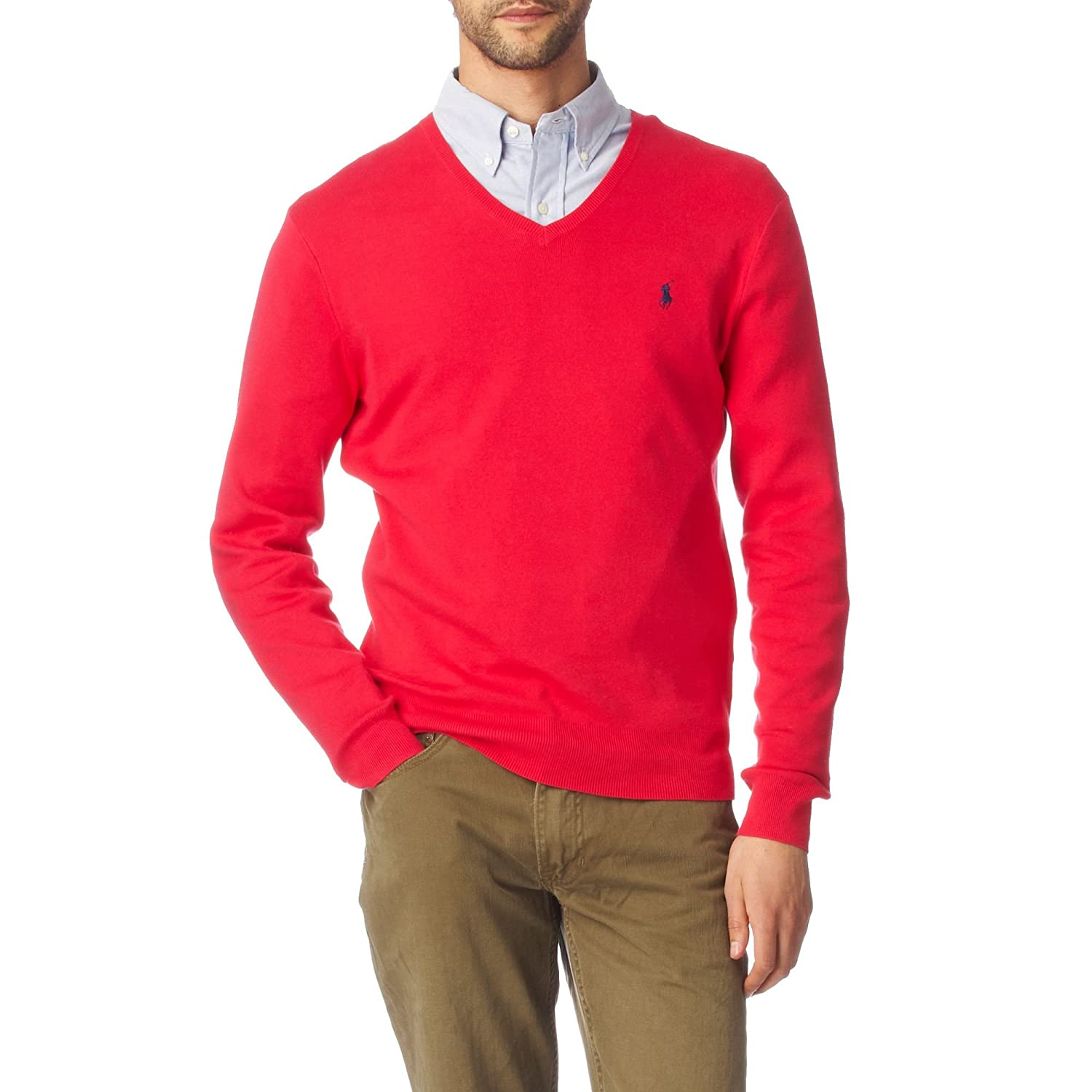 0bf0f3b86 Ralph Lauren Mens Pima Cotton V Neck Sweater