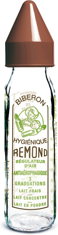 dBb Remond R/égulAir Biberon en Verre avec T/étine NN en Silicone sous Bo/îte Marron Motif Vintage 240 ml