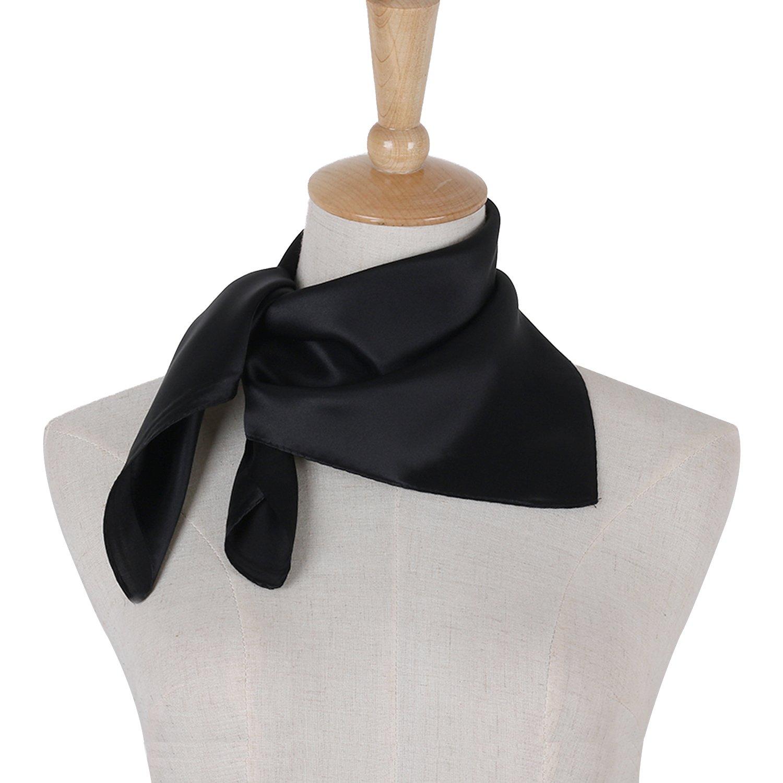 PB-SOAR Damen M/ädchen Gl/änzend Halstuch aus 100/% Seide Seidentuch Seidenschal Schal Bandana Kopftuch Nickituch 52 x 52cm