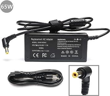 65W AC Adapter for ASUS X551C X551CA X551M X551MA X551MAV Q400A Q501LA Q502 Charger;Toshiba Satellite C55 C655 C850 C50 L755 C855 L655 L745 P50 C855D ...
