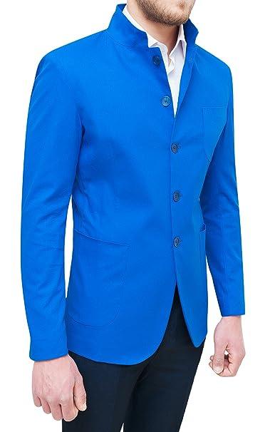 Giacca elegante blu elettrico uomo