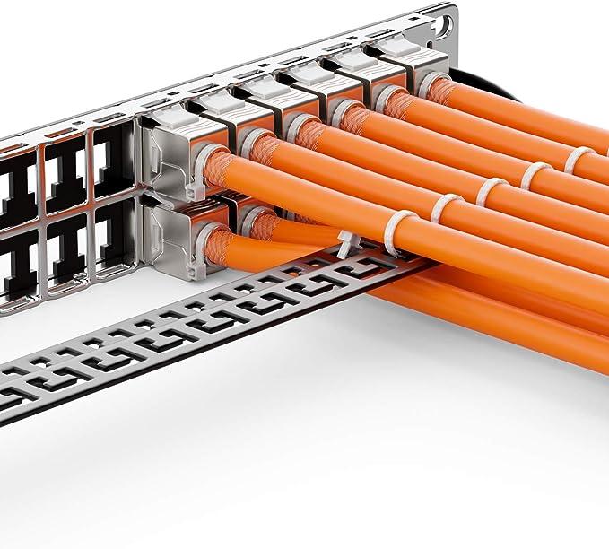 deleyCON 50m Cat.7 Cable de Instalación Cobre Rígido S/FTP PIMF Cable de Red Cable de Instalación Cable LAN Cable de Ethernet Cable de Datos Gigabit ...