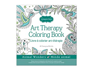 Living In Color Art Therapy Coloring Book 48 Designs 98in X A