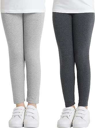 Adorel Leggings Algodón Pantalones Largos Niñas Pack de 2