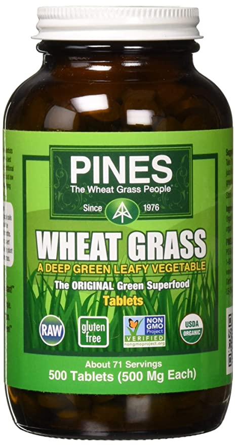 Pines Wheat Grass International Tablets, 500 Count