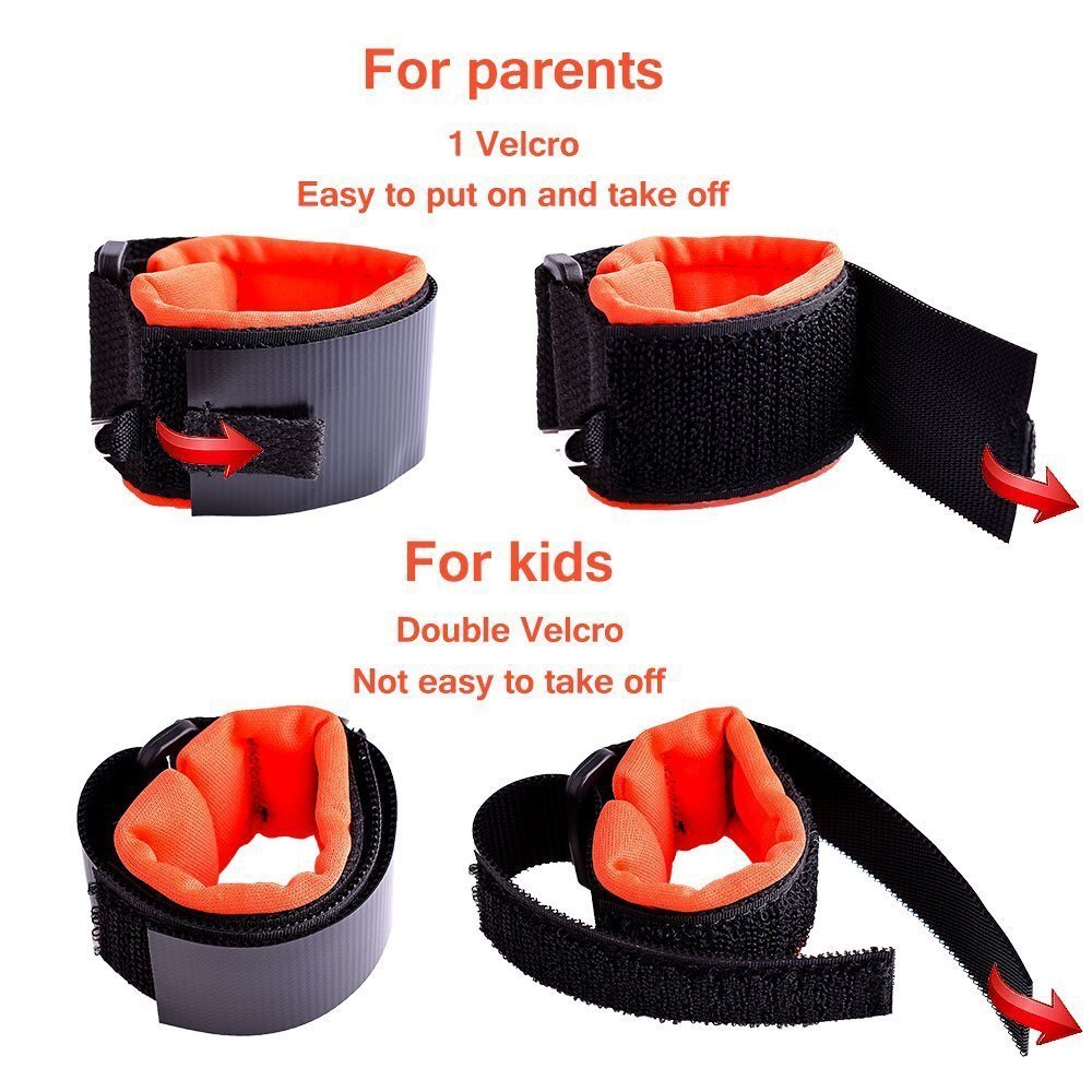 Anti Lost Child Safety and Security Harness Wrist Link Bracelet for Toddlers and Kids 1.5m (Pink)