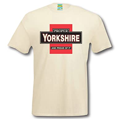 7c3ed4e2 Proper Yorkshire T-Shirt Apparel tee Shirt Clothing Funny humourous top  stag Hen Night: Amazon.co.uk: Clothing