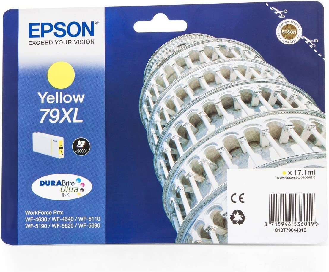 Epson Workforce Pro Wf 4640 Dtwf Original Epson C13t79044010 79xl Tinte Yellow Bürobedarf Schreibwaren