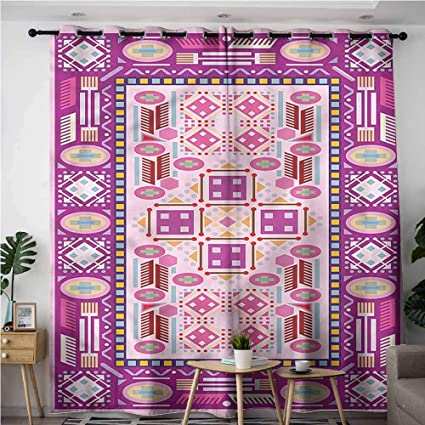 Andytours Living Room Bedroom Window Curtains Afghan Traditional Afghan Motif Space Decorations W72x84l Amazon Co Uk Kitchen Home