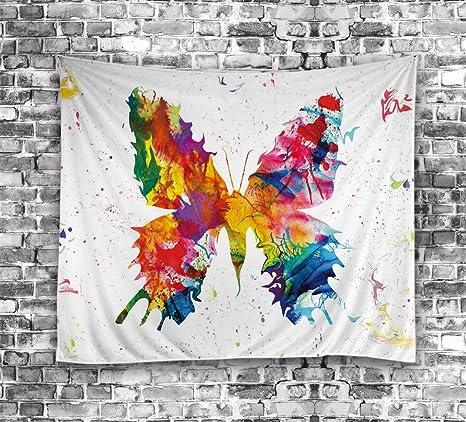 ouliu pintada mariposa impreso decoración del hogar pared arte tapiz toalla de playa de colgar en