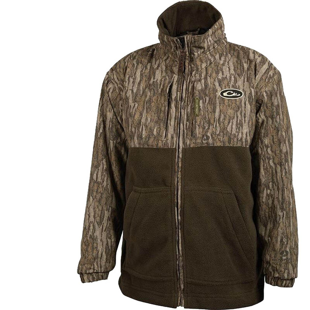 Drake Young Guns MST Youth Eqwader - Full Zip (Mossy Oak Bottomland) (8) by Drake
