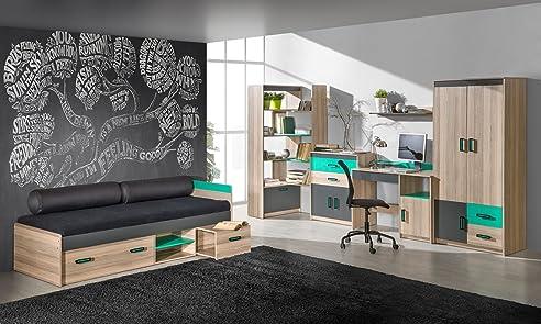 Superior Jugendzimmer Komplett   Set A Marcel, 6 Teilig, Farbe: Esche Türkis / Photo