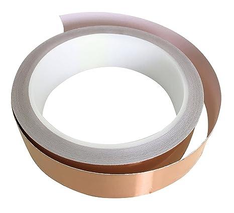 Cinta adhesiva de lámina de cobre (2,54 cm x 10,
