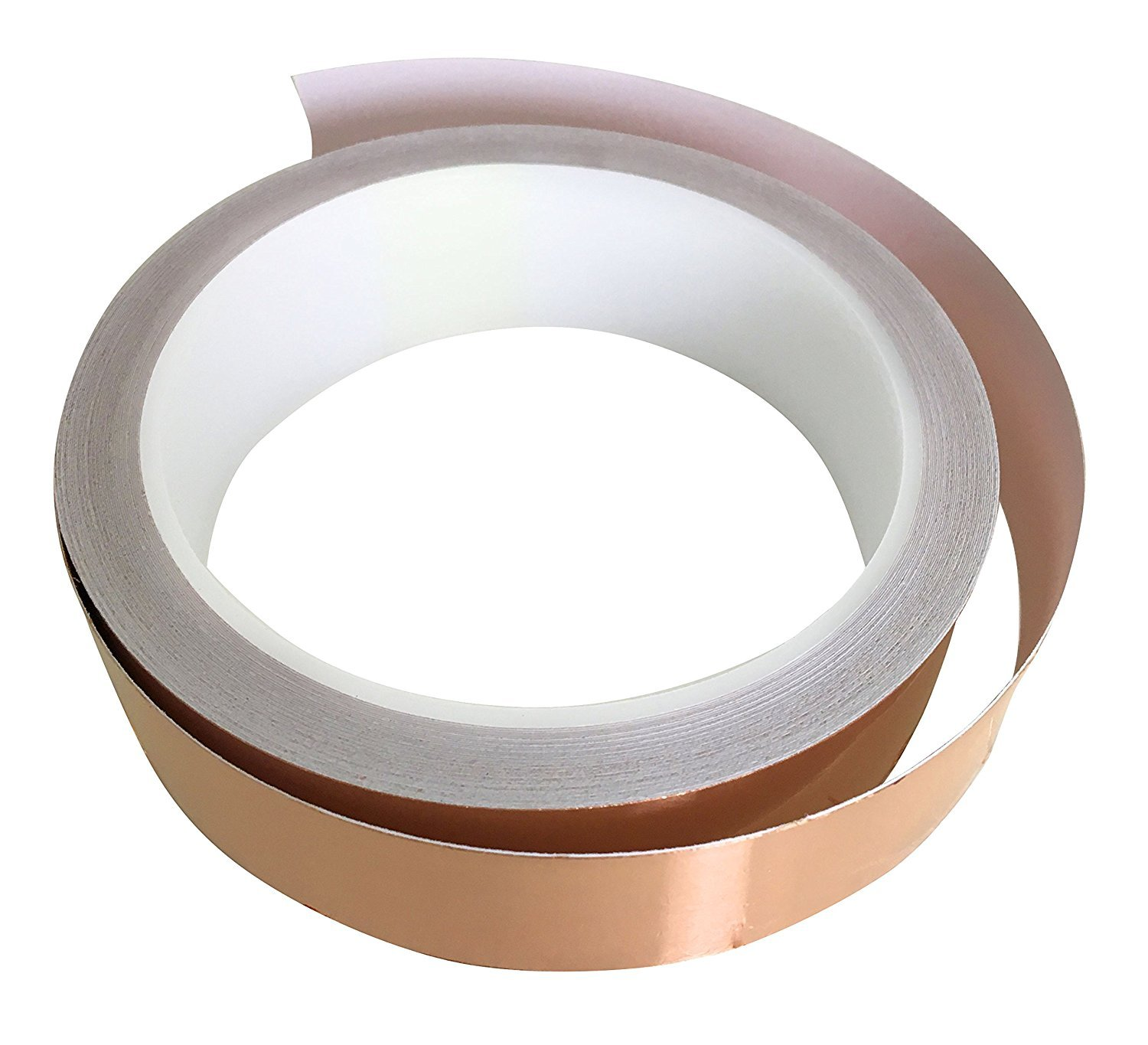 Patio Eden Copper Foil Conductive Adhesive Tape - 36 ft x 1 inch - Slug Deterrent and Snail Repellent, EMI Shielding, and Stained Glass