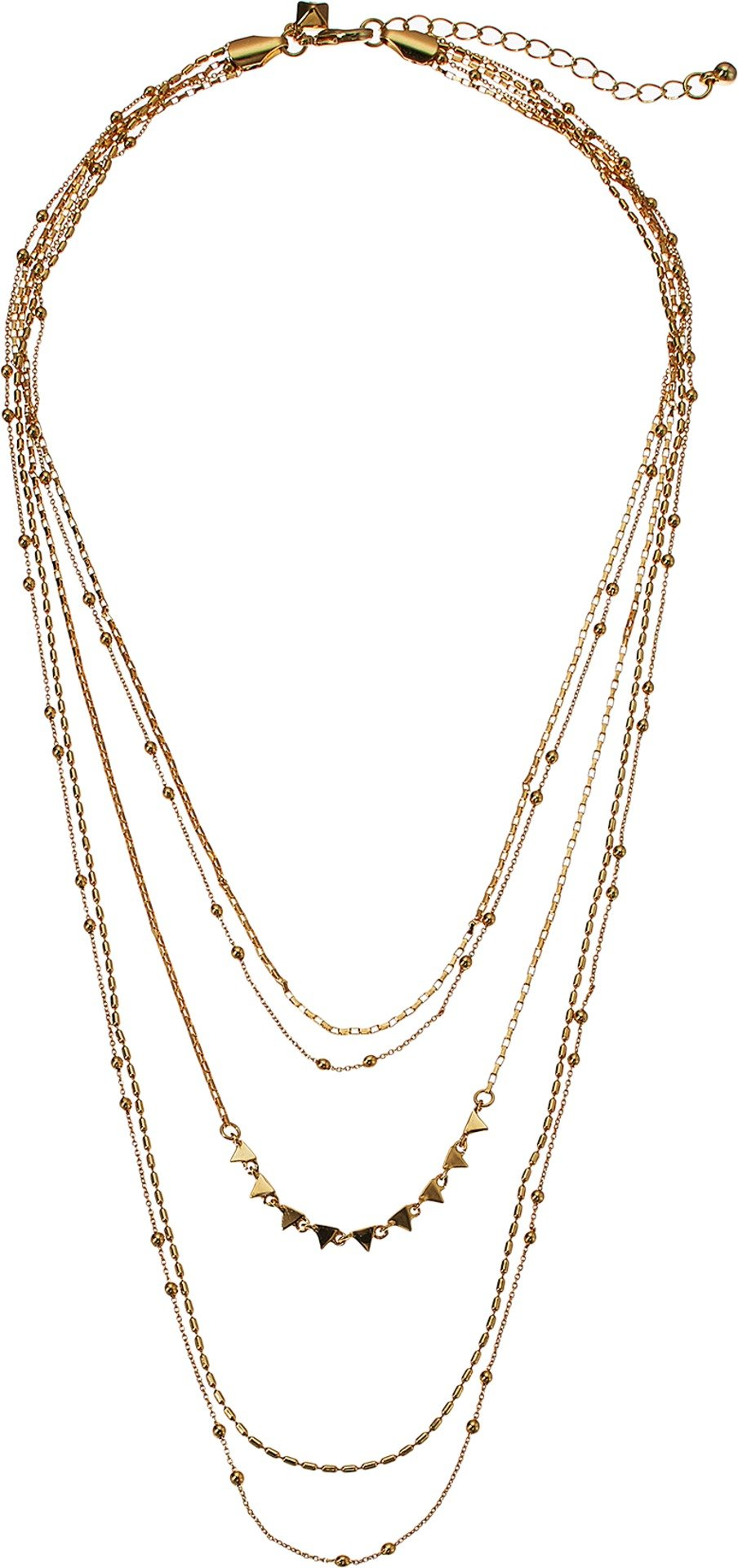 Rebecca Minkoff Women's Ellie Triangle Layers Necklace Gold One Size