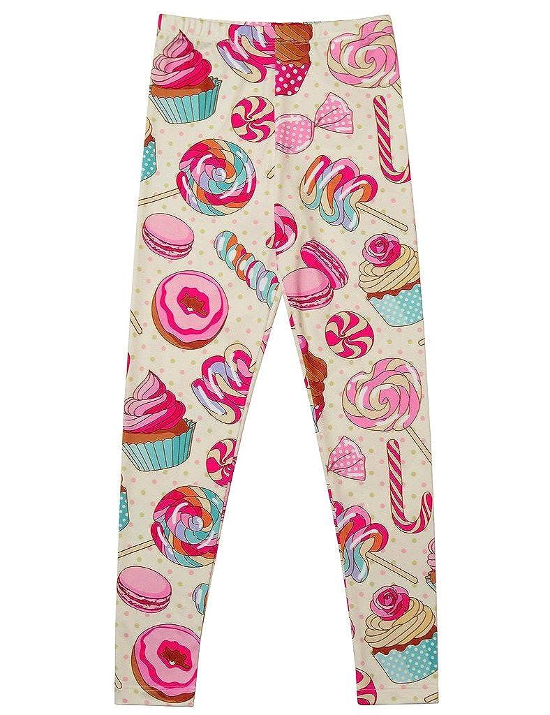 1f8c339bec3b Amazon.com  Girl Unicorn Leggings Kid Rainbow Print Legging Tights ...