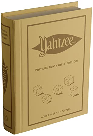 Parker Brothers Vintage Game Collection Wooden Book Box Yahtzee Amazon Winning Solutions Linen