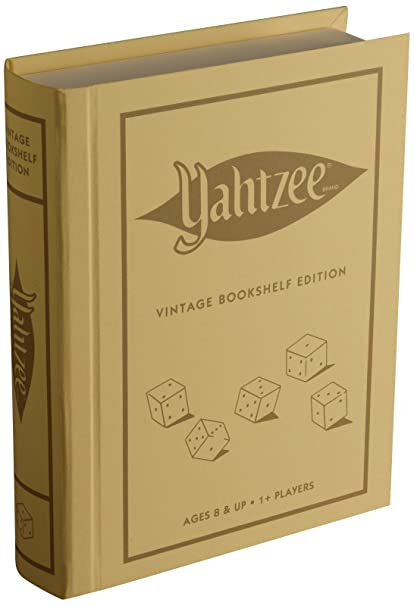Winning Solutions Yahtzee Linen Book Vintage Edition Board Games