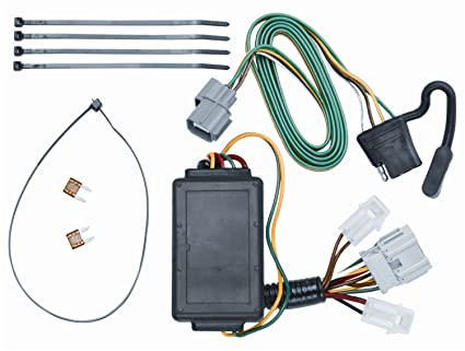 amazon com vehicle to trailer wiring harness connector for 07 11 rh amazon com Wiring Lights in Series Parallell Christmas Light Wiring Diagram